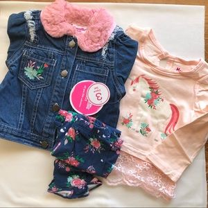 NWT 3 piece 2T girls outfit